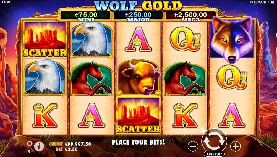 Wolf Gold scherm
